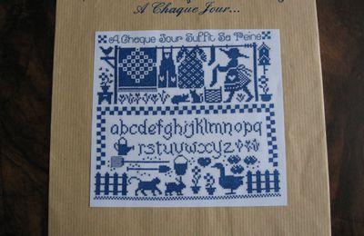 Sac à pinces à linge - Modèle broderie Marjorie Massey