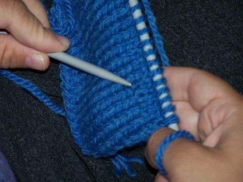Défaire plusieurs rangs en tricot