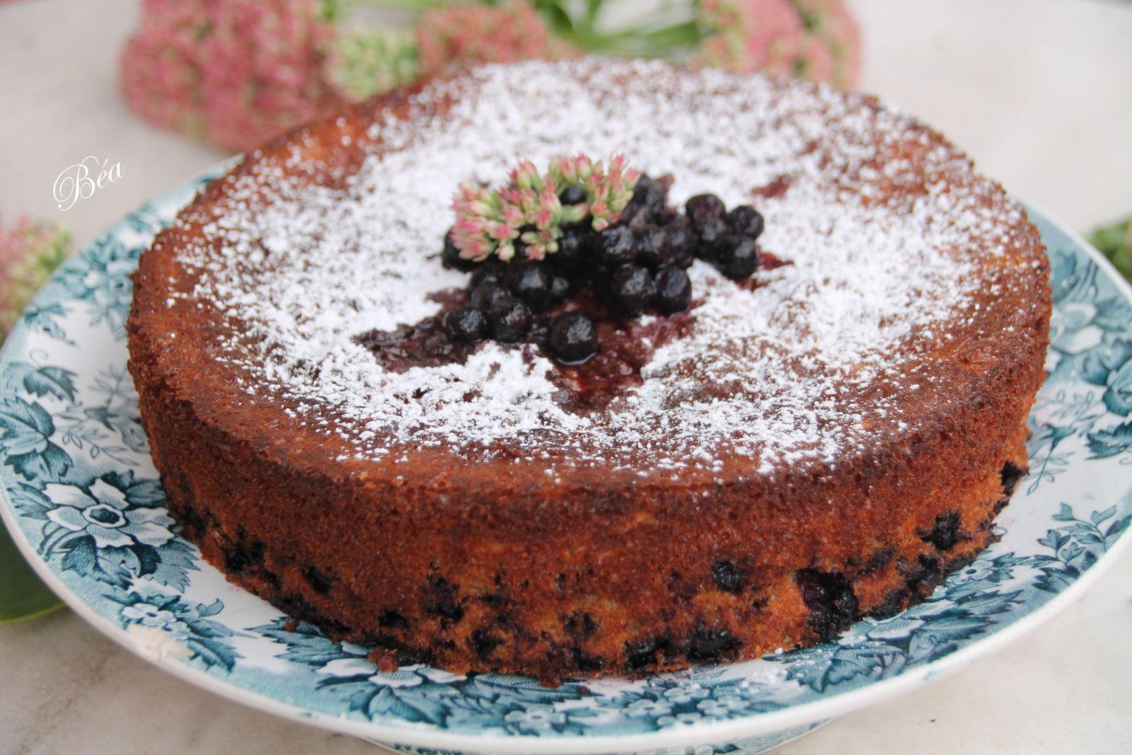 Gâteau vosgien aux myrtilles - balade vosgienne