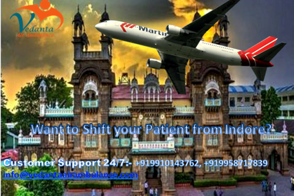 Want to transfer your patient immediately from Indore to other Place? Book Vedanta