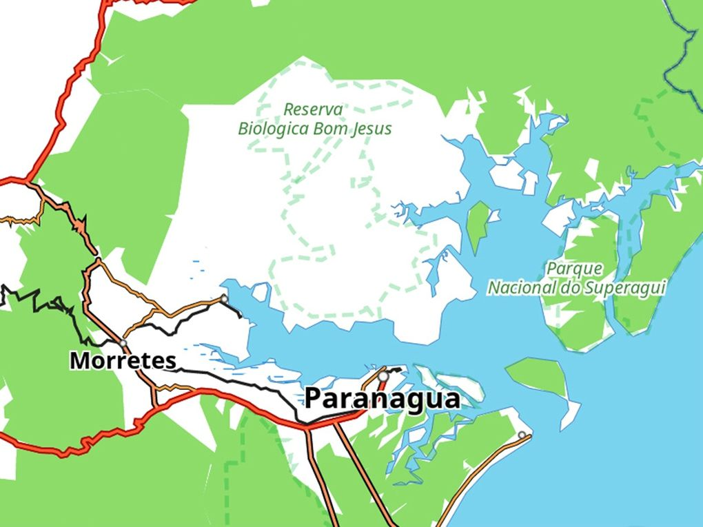 Une belle surprise : Paranagua.