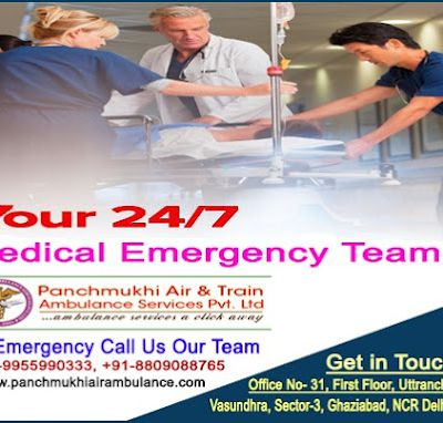 Get Panchmukhi Train Ambulance Service in Varanasi and Allahabad with Expert Medical Team