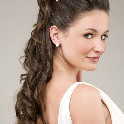 Bridal Hairstyles For Medium Length Hair for Long Hiar with Veil Half Up 2013 For short hair indian Half Up Half Down