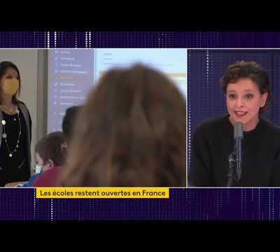 """""""Il y a un besoin légitime de connaître la réalité des taux de positivité à l'école"""" - France Info/Najat Vallaud-Belkacem"""