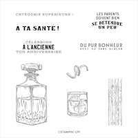 152988 Catégorie supérieure tampon a la tienne bouteille whisky glaçon verre trinquer homme masculin bar