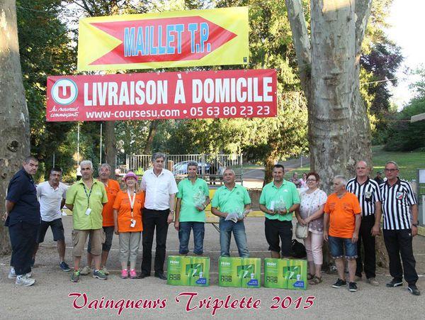 Vainqueurs dimanche soir sur le score de 13 à 8, la triplette Philippe Duchein (Lalanne Arque), Raphaël Rypen (Bourbon Lancy), Eric Dasnias (Langon),