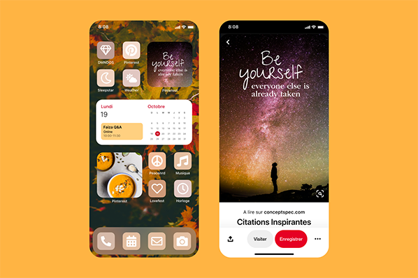 Widget iOS 14 Pinterest bernieshoot