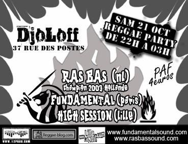 Les flyers reggae du mois d'octobre 2006
