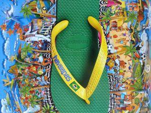 Tongs Havaianas, Brésil, aux couleurs du Brésil, pub Biba, 07.2014, Cl3. Elisabeth Poulain