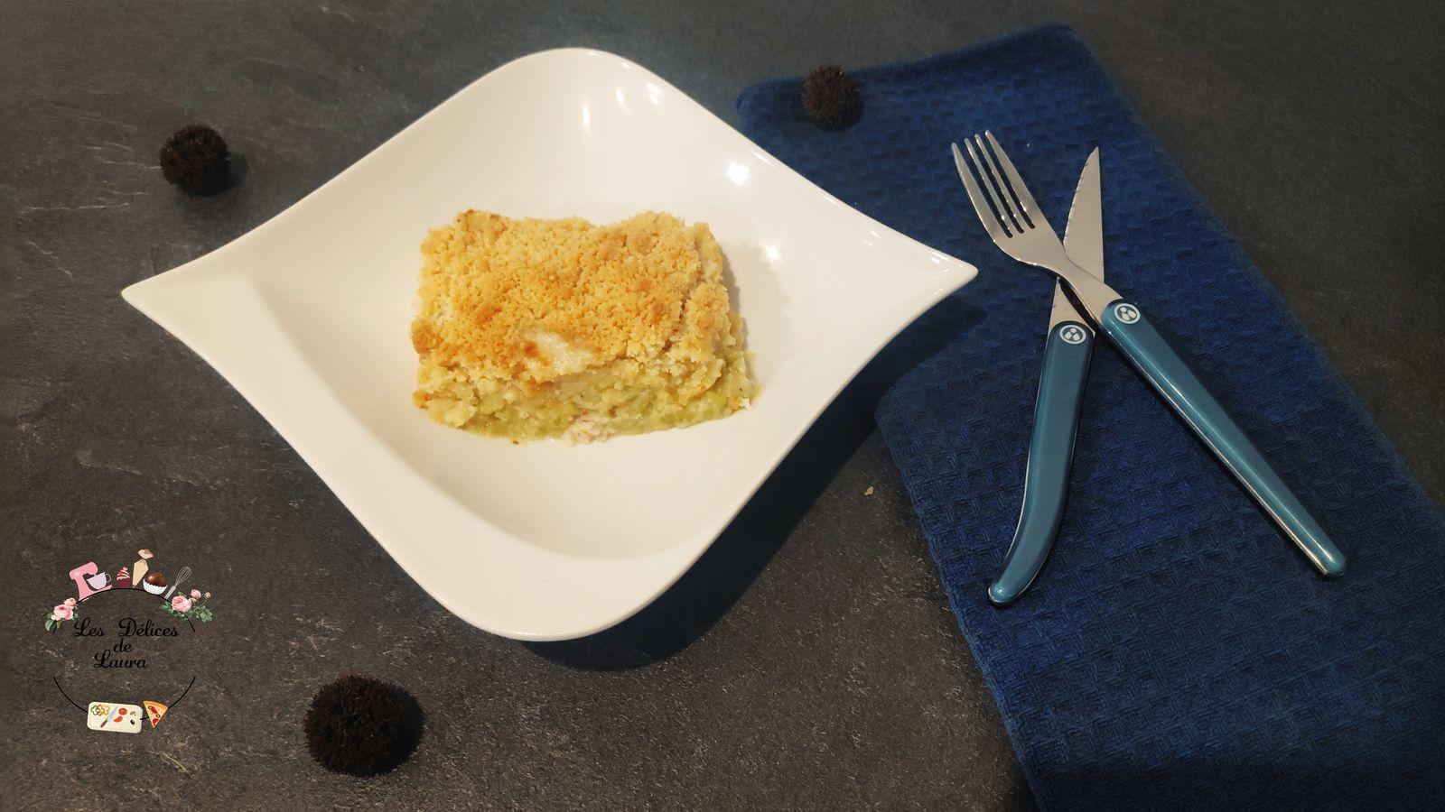 Crumble poulet courgettes et parmesan