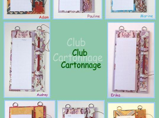 Club cartonnage ... Porte-bloc ... Suite !!!