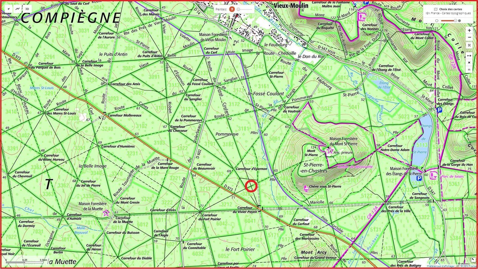 carrefour_Route du Fossé Coulant_Route des Moines