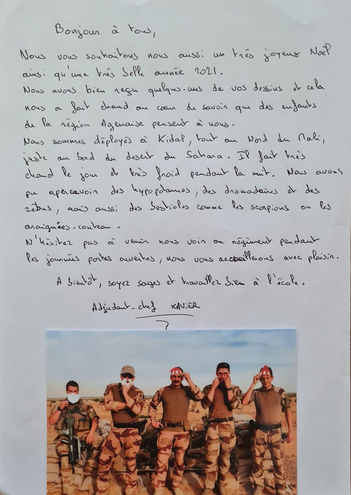Des nouvelles des soldats du 48RT en opérations extérieures