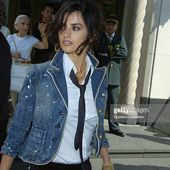 Penelope Cruz is seen during a commercial shoot on 65th Street June...