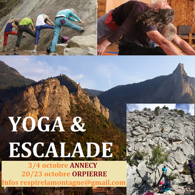 Octobre yoga et escalade