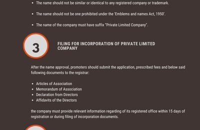 REGISTRATION PROCEDURE FOR PRIVATE LIMITED COMPANY