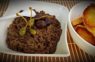 Tapenade d'olives noires, câpres et anchois