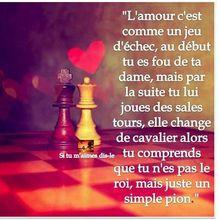 L'amour, c'est comme un jeu d'échec..