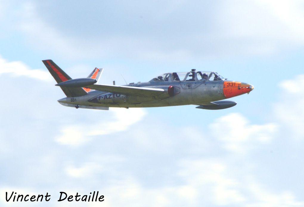 Le Fouga CM-170 Magister F-AZTO basé à Valencienne (photo: Vincent Detaille).