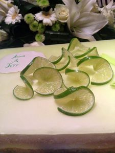 Entremet au citron vert - Mariage d'Anna & Jeff