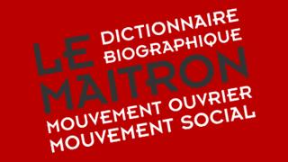 Notice biographique d'Adrien Pressé dans le Maitron