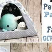 FREE Pattern Pet House Igloo + Polar Opposites Fabric Giveaway!