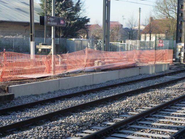 Les travaux gare de Crépy en Valois en janvier 2016
