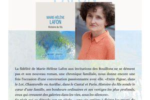 Bouillon avec Marie-Hélène Lafon