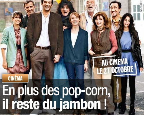 En plus des pop-corn, il reste du jambon !