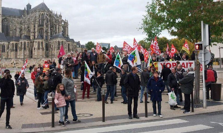 Rassemblement mercredi 19 octobre à la cité judiciaire du Mans contre la répression syndicale