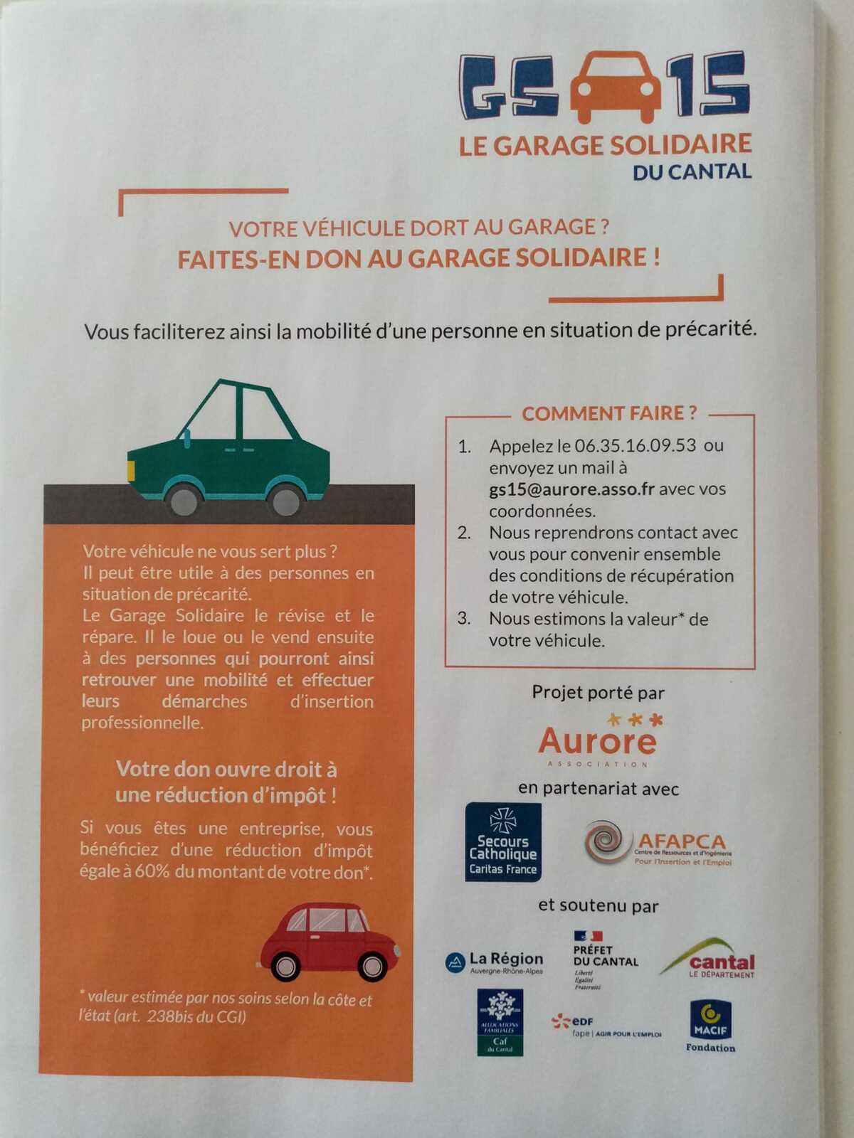 Garage solidaire du Cantal