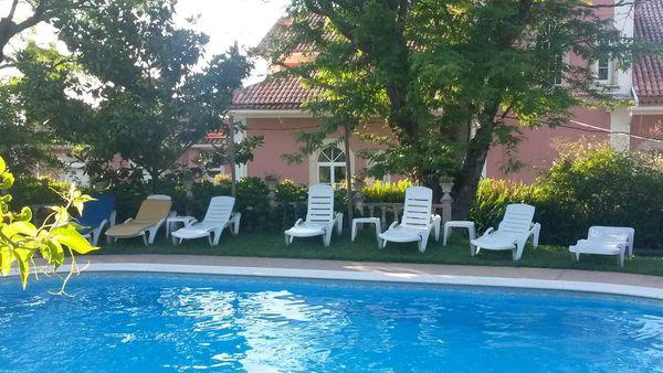 La piscine de l'hôtel, un petit coin de paradis...