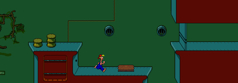The principal of the level is that Bubba has to turn on a few machines in order to drown the shaft in green mud so as to create a path to the exit door.