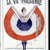 Marianne France années 1910, 1911, 1912, 1913, 1914, 1915, 1916, 1917, 1918, 1919 - c a r i c a d o c