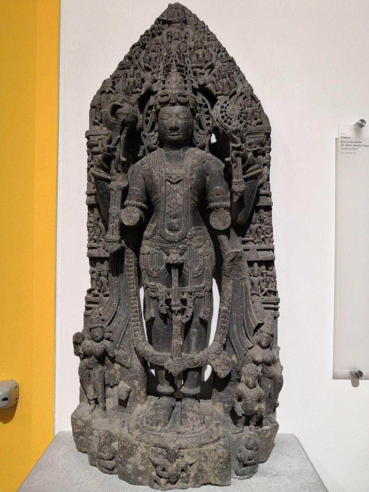 Vishnu, Etat du Karnataka (Inde), 12e siècle, époque hoysala, Chloritoschiste