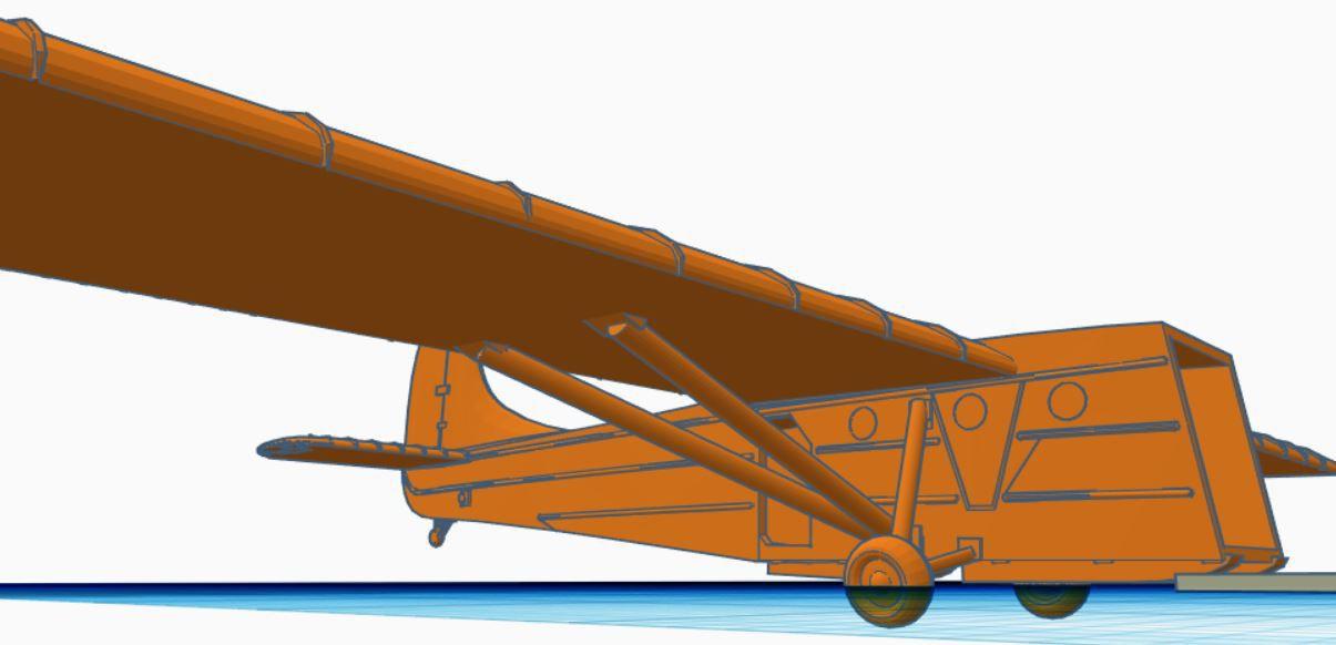 Modélisation d'un planeur Waco pour Flames of War (et bolt Action si on joue au 1/100e)