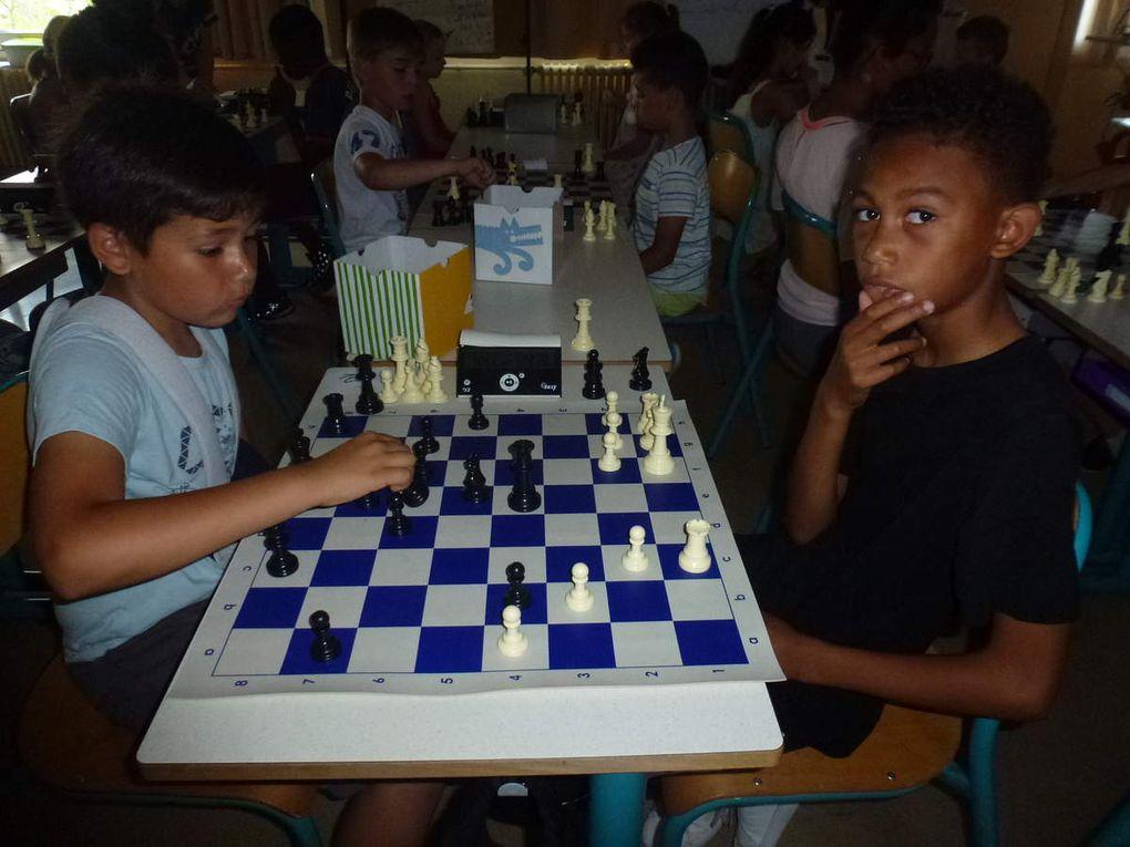 Tournoi d'échecs avec l'école du Centre