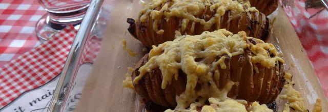 Pommes de terre Suédoises au lard et gratinées