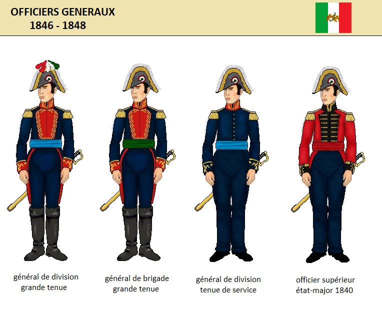 l'uniforme des officiers généraux mexicains