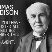 Thomas A. Edison inventor and businessman : The Obstacle Is the Way: The Timeless Art of Turning Trials into Triumph - OOKAWA Corp.