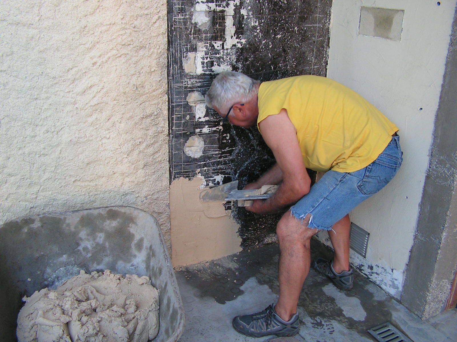 Crépissage mur