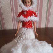 tuto gratuit barbie : cape pour Noël - Chez Laramicelle