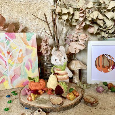 Nos petits DIY d'automne {Aquarelle, crochet, Fimo, papier}