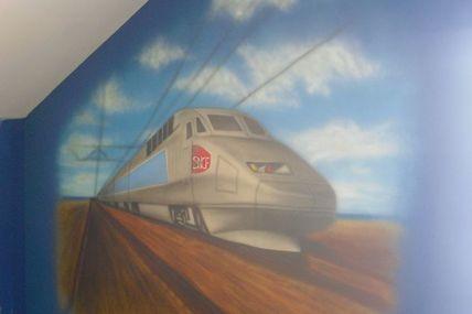 Le TGV en peinture...