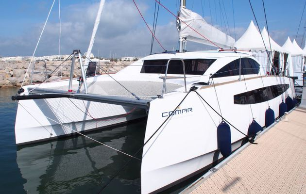 Photo Reportage - premier contact avec le Comet 37 Cat, premier catamaran de Comar Yachts