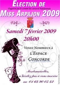 Election de Miss Arpajon 2009