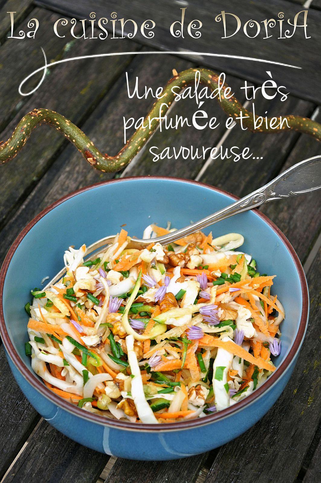 Salade de crudités façon asiatique