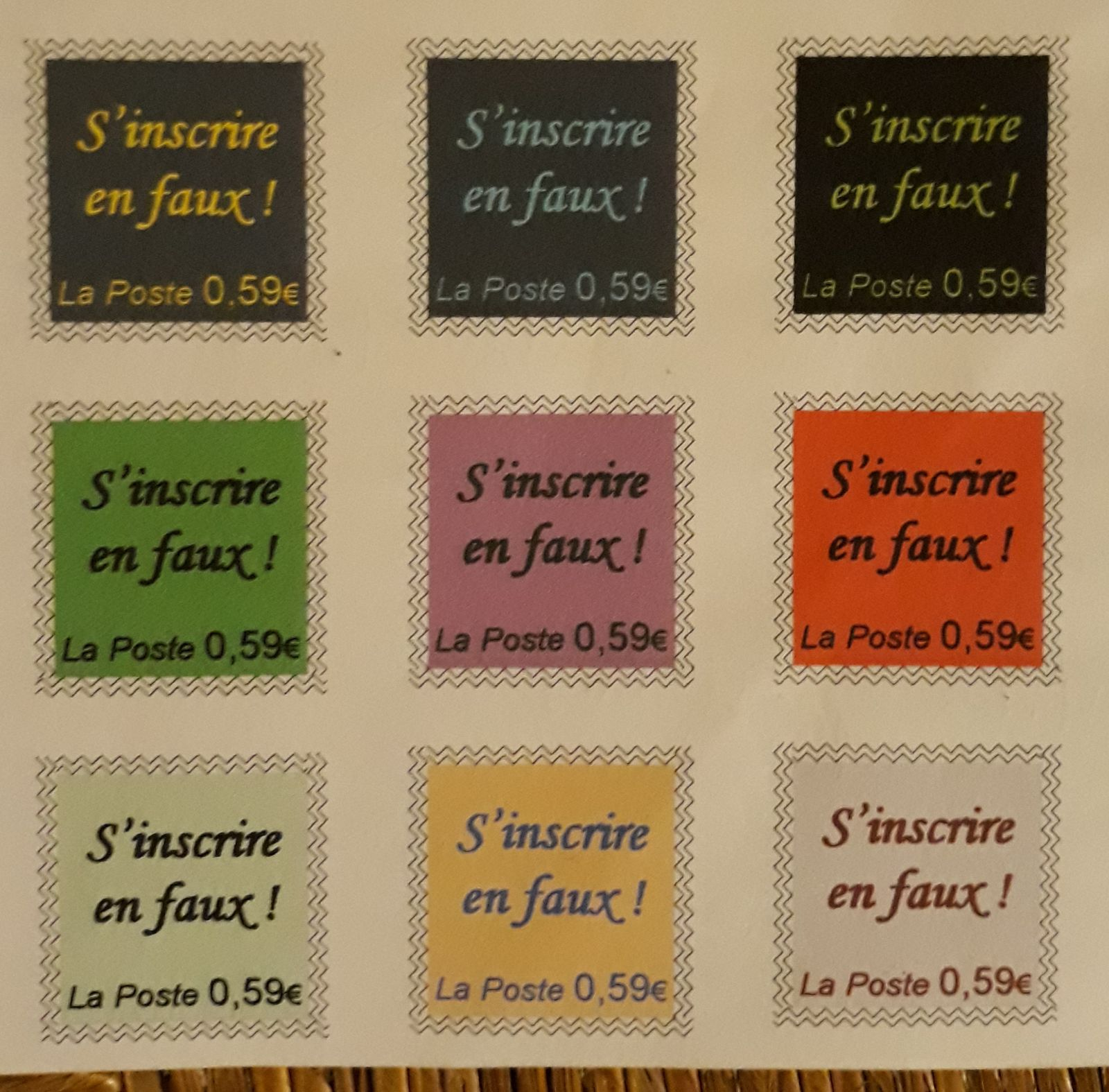 Oeuvres postale d' Eric Babaud