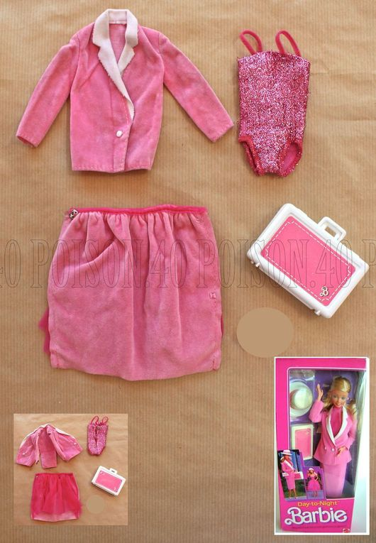 """DAY-TO-NIGHT"" BARBIE DOLL CLOTHES 1984 MATTEL #7929"