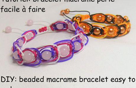 Tutoriel: bracelet macramé perlé facile à faire